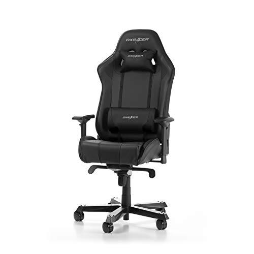 DXRacer (das Original) King K06 Gaming Stuhl für PC, ergonomischer Schreibtischstuhl aus Kunstleder, Schwarz