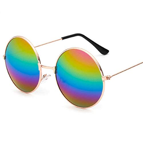 Yuanz Brille Retro Round Prince Sonnenbrille Vintage Kreis Männlich Weiblich Reflektierende Sonnenbrille Uv400,EIN