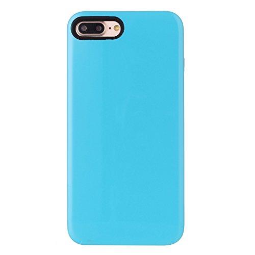 Hülle für iPhone 7 plus , Schutzhülle Für iPhone 7 Plus TPU + PU Kombi-Schutzhülle ,hülle für iPhone 7 plus , case for iphone 7 plus ( Color : Blue ) Blue