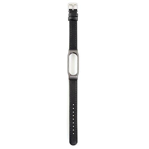 VAN+ Unisex verstellbar Leder Handgelenk Band Ersatz-Armband Strap für Xiaomi Mi Band 2 Smart Armband - 4
