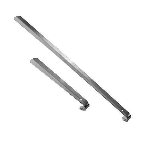 2´er Set Schuhanzieher Schuhlöffel sehr stabil Edelstahl 72 und 30 cm LSA002 (Edelstahl Schuhlöffel)