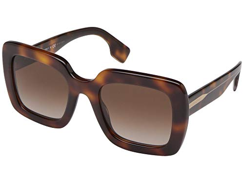 Burberry BE4284 379013 Light Havana BE4284 Square Sunglasses Lens Category 3 Size 52mm - Burberry Light