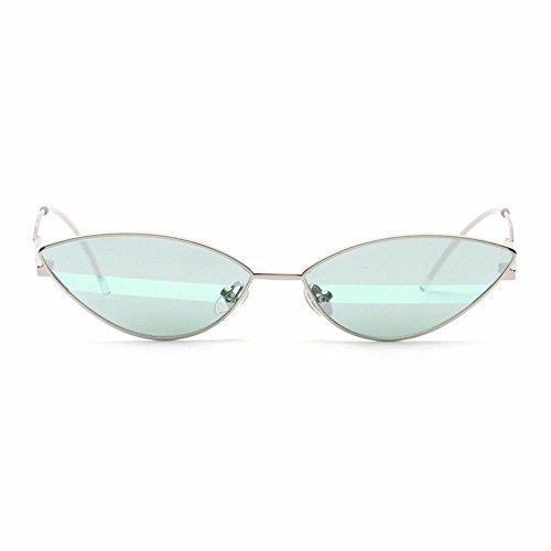 Tyjshop occhiali da sole uomo e donna occhiali bicolore colorati a strisce,mercury green