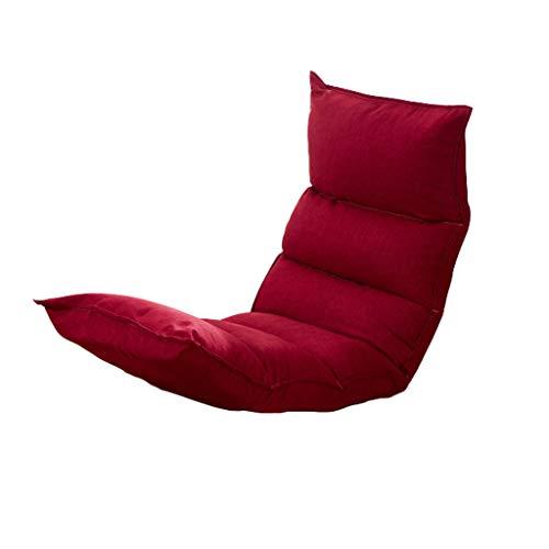 Tlmydd schienale pieghevole per bovindo con letto tatami e colazione divano pigro (colore : red)