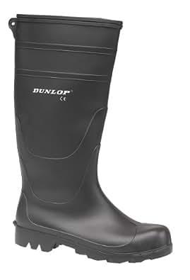 men Dunlop Universal PVC Welly BLACK 7