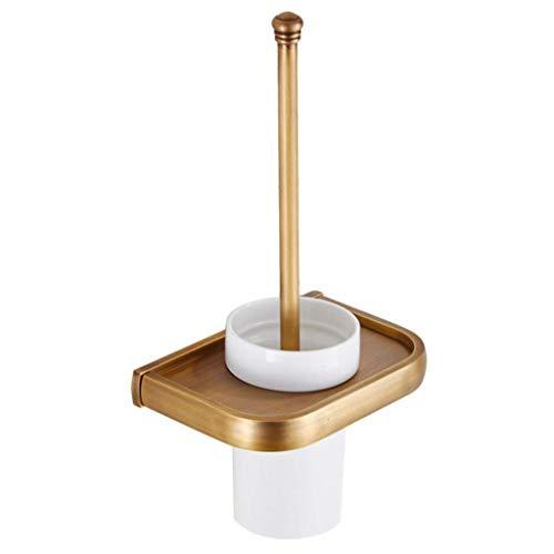 Willsego Wc-bürstenhalter Bad-WC-Bürstengarnitur, Toilettenbürste, antike Toilettenbürstengarnitur aus Messing, Wand-Toilettenbürste