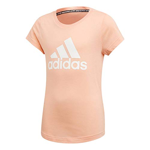 adidas Mädchen Must Haves Badge of Sport T-Shirt, Glow Pink/White, 164