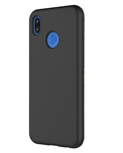 Huawei P20 Lite Hülle TPU Silikon Stoßfänger Hülle Tasche Handyhülle Ultra dünn Silikonhülle Backcover Case Handy Schutzhülle Huawei Nova 3e 2018 (Huawei P20 Lite, Schwarz)