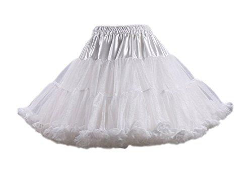 dchen Kinder Tanzen Ballett Tutu Rock Ballett Pettiskirt Prinzessin Tanz Röckchen Tutu Kostüme Weiß One Size ()
