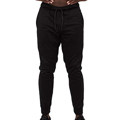 Layer 8 Herren Jogginghose Performance Active Tech Knit 2.0 Athletic Fleece Sweatpants - Schwarz - Mittel -