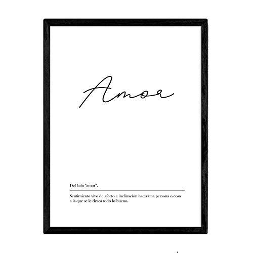 Nacnic Lámina definición Palabra Amor tamaño A4
