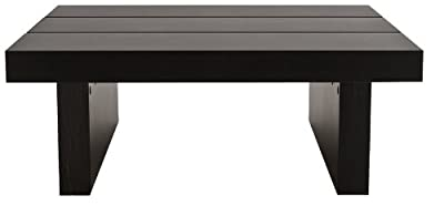 TemaHome Square Tokyo Coffee Table, 94 x 94 x 35 cm, Wenge/Beech Veneer Stained Black - inexpensive UK light store.