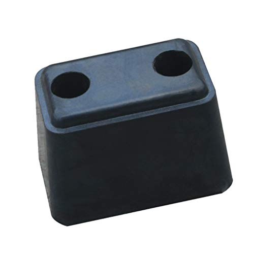 Feng-ramps Auto-Heck-Antikollisions-Block, Lager-Pier-Garagen-Wand-Schutz-Brett-LKW-Kleintransporter, die Gummipuffer-Block aufheben (Color : Black) -