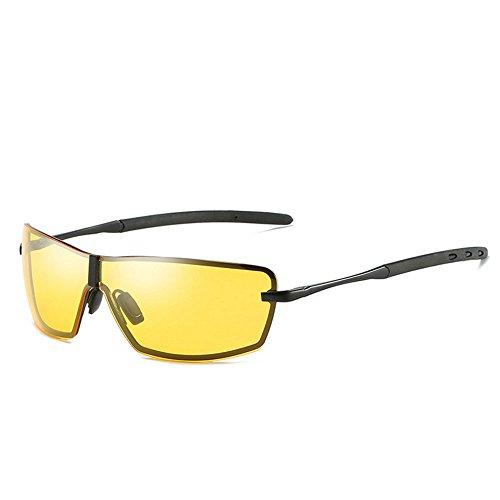 RYRYBH Sonnenbrillen Herren polarisierte Sport Reiten Sonnenbrillen Damen Baseball Laufen Fahrrad Angeln Golf Softball Wandern Sonnenbrille Sonnenbrille (Farbe : Gelb, größe : One Size)