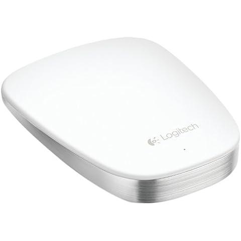 Logitech Ultrathin Touch T631 - Ratón óptico (Bluetooth, táctil), blanco