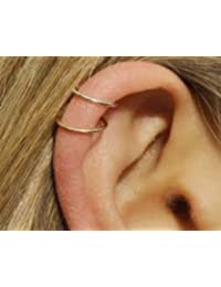 Silver Rose Gold Hoop Sleeper Earring 6|8|10mm Cartilage Piercing Ring Helix Rook Earring 6mm Rose Gold