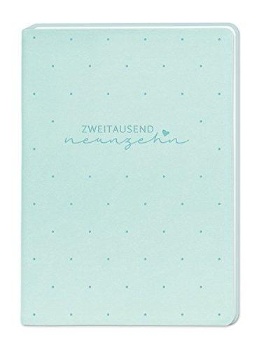 Terminplaner Lederlook A6 Mint (Zweitausend Neunzehn) 2019