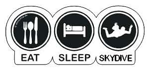 EAT-SLEEP-SKYDIVE, FALLSCHIRMSPRINGER Aufkleber Autoaufkleber Sticker Vinylaufkleber Decal