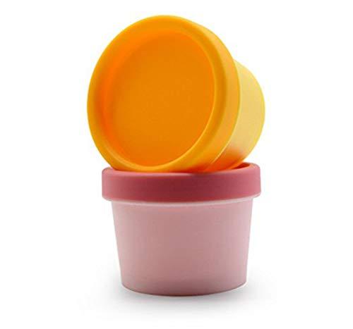 3 STÜCKE 50 ML 1,7 UNZE Zufällige Farbe Leere Nachfüllbare Kunststoff Creme Box mit Deckel Tragbare Mini Gesichtscreme Bad Schlamm Hautpflege Glas Maske Rührschüssel