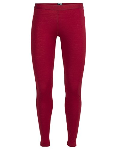 Icebreaker Damen Oasis Leggings Funktionshose, Oxblood/Rocket, XS