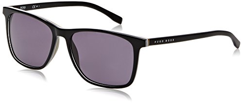 BOSS Hugo Herren 0760/S Y1 QHI Sonnenbrille, Schwarz (Black/Grey), 55