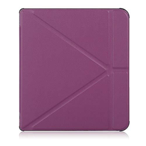 TianranRT Schlank Leder Fall Smart Cover für Amazon Kindle Oasis Sleep/Wake 7Inch (Lila)