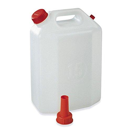 Kanister 15Liter Polyethylen mit Ausgießer der PlasTime für Wasser Wein Öl Flüssigkeit -