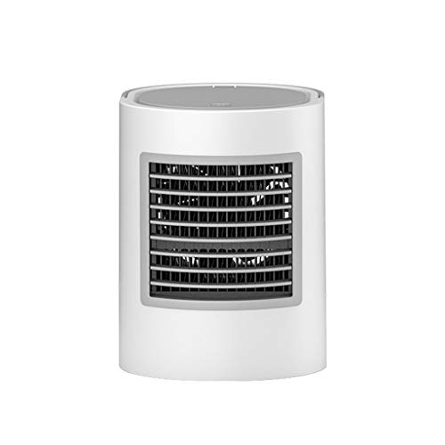 Deloito Tragbare Fan Oval USB Aufladen Mini Klimaanlage Ventilator Großer Kapazität Wasser Lüfter Für Schlafzimmer Kühler Handventilator (Grau) -