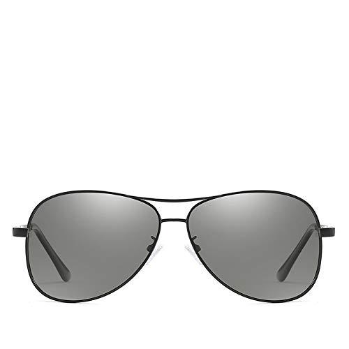 CCMOO 2018 Photochrome Sonnenbrille Männer Polarisierte Sonnenbrille Mann Chameleon Sonnenbrille Männliche Pilot Klassische Fahren Brille Goggles-Schwarz