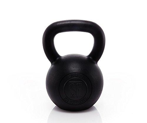Suprfit Econ Kettlebell 28 kg | Kugelhantel | Schwunghantel | für Cross Training, Gewichtheben oder Bodybuilding | Gusseisen | Geeigent zum Reißen, Stoßen und Drücken | Schwarz Lackiert (28kg Kettlebells)