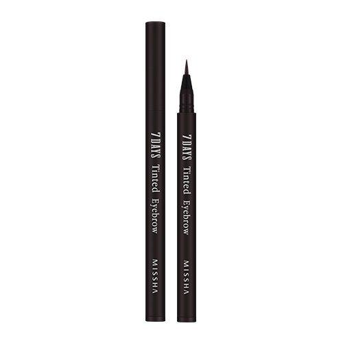 MISSHA, Seven Days Tinted Eyebrow, Bleistift für Augenbrauen, 0,8ml, Farbe Sepia Braun (Anzahl...