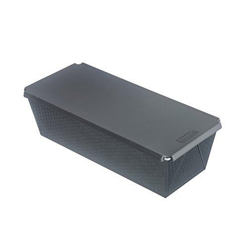 Kaiser Inspiration Brotbackform mit Silikondeckel Kastenform antihaftbeschichtet gleichmäßige Bräunung zum Backen und Aufbewahren 32x 15 x 19 cm