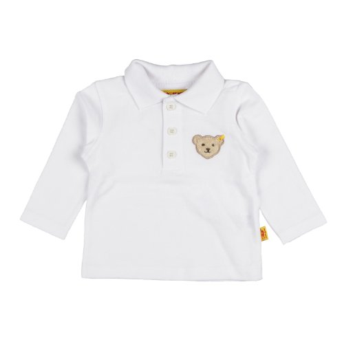 Steiff Unisex - Baby Poloshirt 0006831 1/1 Arm, Bright White, 80 (Herstellergröße: 80)