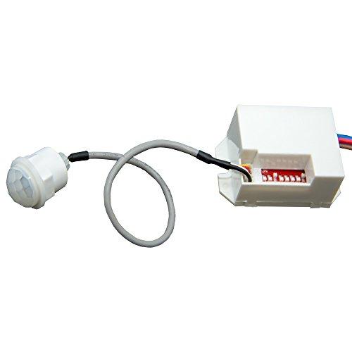 Mini PIR Einbau Bewegungsmelder 230V UP Infrarot LED 360 Grad Sensor Detector - 2