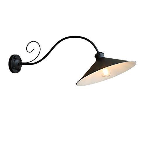 Zhang yan zyy lampada da parete per esterni in ferro battuto con palo in ceramica lampada da parete per esterni con braccio in ferro battuto da giardino (design: 1)