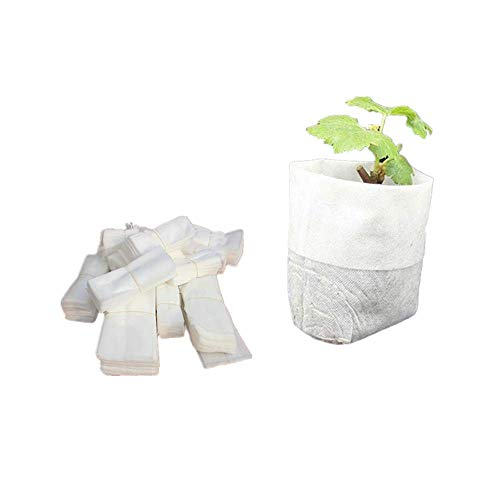 Sac Biodegradable, Fellibay Lot de 100 Sacs de Plantation biodégradables 8 x 10 cm