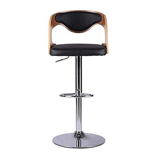 Modernes Design Akzent Stuhl San Francisco Barhocker Set Rückenlehne, Kunstleder außen, einstellbare Swivel Gas Lift, Chrom Fußstütze Base Frühstücksbar, Theke, Küche Home (2 Stück, bräunlich gelb -