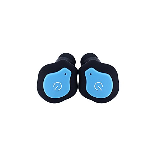 B5645ells Wireless In-Ear-Stereo-Bluetooth-Ohrhörer Sport-Ohrhörer für iPhone Mini Twins - Schwarz Blau