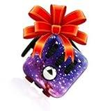 Be Squared Stresswürfel wie Fidget Cube - Gadget / Spielzeug gegen Stress, unruhige Hände, Perfekt für nervöse Finger zur Ablenkung (Lila)