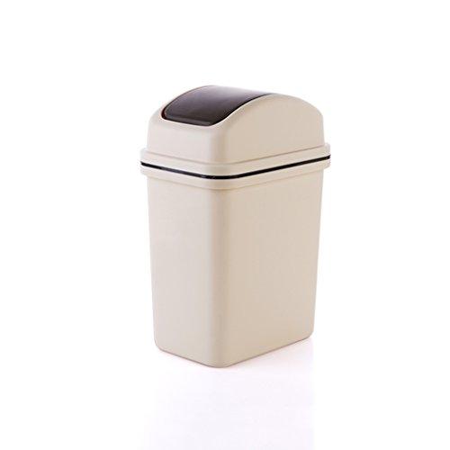 Kreative Swing Deckel Mülleimer mit abnehmbaren Pressring, Haushalt Schlafzimmer Wohnzimmer Papierkorb Küche Badezimmer Kunststoff Mülleimer (Color : A) - Mülltonne Dual