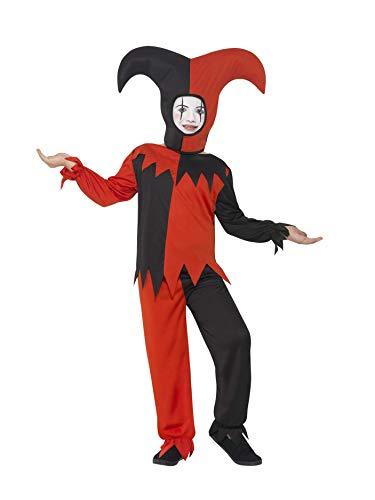 Smiffys 45483M - Kinder Jungen Twisted Narren Kostüm, Oberteil, Hose und Hut, Alter: 7-9 Jahre, ()