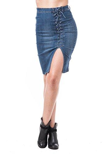 Khanomak Damen Jeanshose Mittelblau