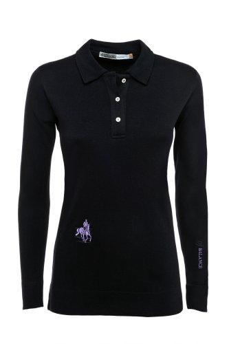 Der klassische Rider's Damen Polo Long Sleeve schwarz - schwarz