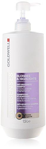 Goldwell Dualsenses Blondes und Highlights Anti-Gelbstich Shampoo, 1er Pack, (1x 1500 ml)