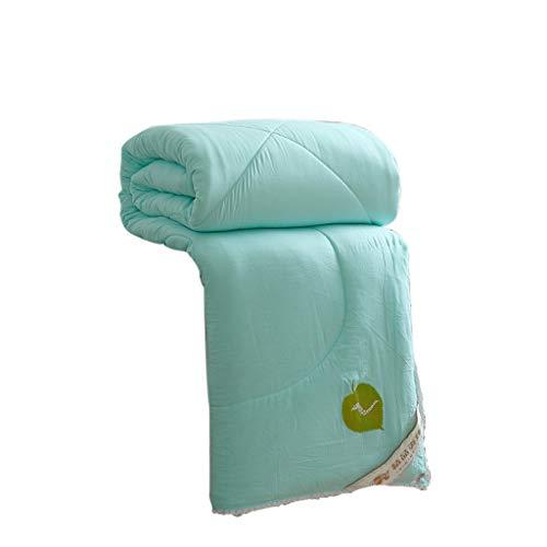 QUILT Gewaschen, komfortabel und dick Eine Vielzahl von Spezifikationen, geeignet für alle Jahreszeiten, Sommer-Kühle Steppdecke Klimaanlage MENA Uk (Farbe : Blau, größe : 150 * 200cm(1KG))