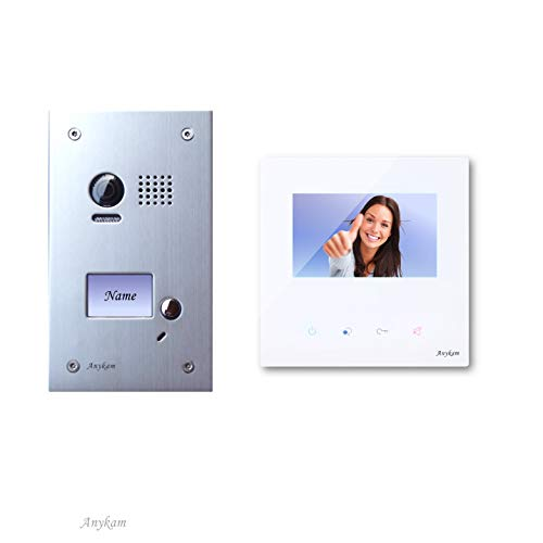Farb-Video-Türsprechanlage in 2-Draht-Technik für 1-FamilienhausDT603D+ 1x DT43