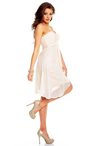 Très mignonne arrivant aux genoux avec robe bandeau aHHS255 chiffon rose - creme (Sw 65)