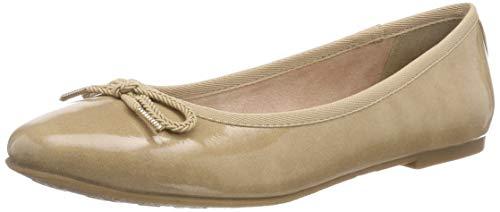 Tamaris Damen 22123-21 Geschlossene Ballerinas, Beige (Nude Patent 253), 39 EU