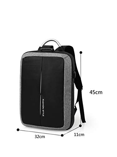 90ff719fbfab Fashio Style Anti-Theft [ BACKPACK with LOCK ] Oxford Material Travel  Business Laptop Backpack for men women Bag Laptop Bag Backpack [ with USB  ...