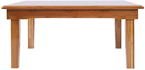 MJK Tisch, klappbarer Laptop-Tisch, Bett/Student Erker, rechteckiger Garten-Couchtisch aus Teakholz, Werkbank,70X35cm